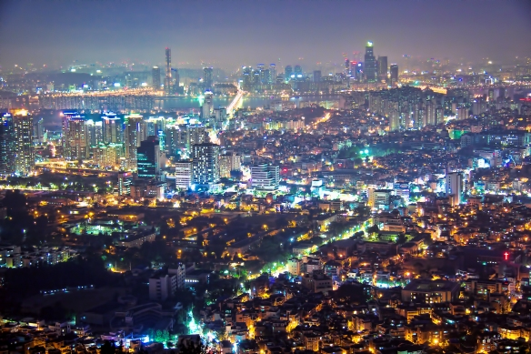The wealth of Seoul by night